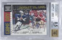 Troy Aikman, Steve Young /25 [BGS 8.5]