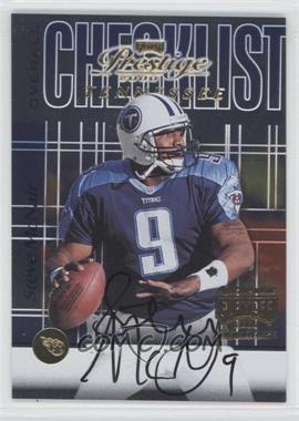 2000 Playoff Prestige - Team Checklists #CL92 - Steve McNair