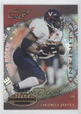 2000 Quantum Leaf Infinity Red #306 - Thomas Jones /35