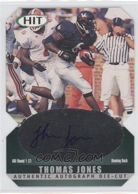 2000 SAGE Hit Autographs Emerald Die-Cut #A6 - Thomas Jones