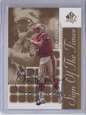2000 SP Authentic - Sign of the Times - Gold #SY - Steve Young /8