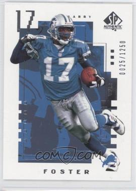 2000 SP Authentic #163 - Larry Foster /1250