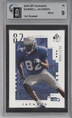 2000 SP Authentic #94 - Darrell Jackson /1250 [GAI 9]