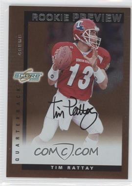 2000 Score Rookie Preview Autographs #SR 34 - Tim Rattay