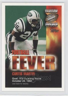 2000 Topps Season Opener Football Fever Sweepstakes #N/A - Curtis Martin