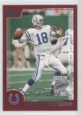 2000 Topps Season Opener #117 - Peyton Manning