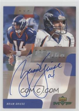 2000 Upper Deck MVP Pro Sign #BG - Brian Griese