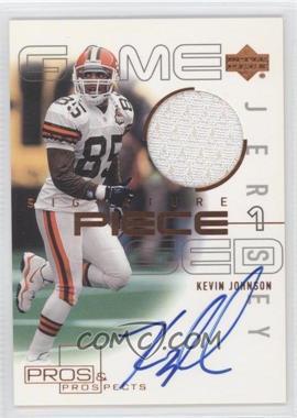 2000 Upper Deck Pros & Prospects Signature Piece 1 #SP-KJ - Kevin Johnson