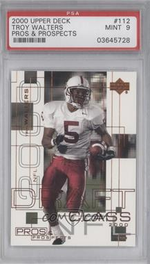 2000 Upper Deck Pros & Prospects #112 - Troy Walters /1000 [PSA 9]