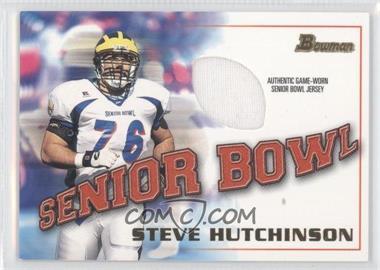 2001 Bowman - Rookie Jerseys #BJ-SH - Steve Hutchinson