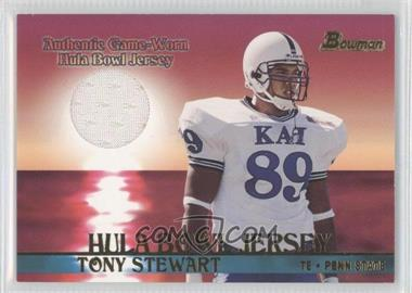 2001 Bowman - Rookie Jerseys #BJ-TS - Tony Stewart