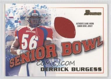 2001 Bowman [???] #BJ-DBU - Derrick Burgess