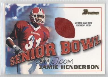 2001 Bowman [???] #BJ-JHE - Jamie Henderson