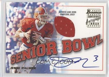 2001 Bowman Rookie Jersey Autographs #BJA-JP - Jesse Palmer