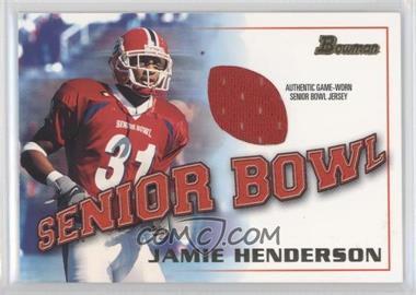 2001 Bowman Rookie Jerseys #BJ-JHE - Jamie Henderson