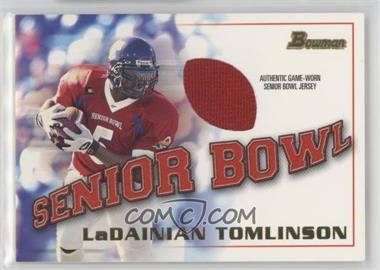2001 Bowman Rookie Jerseys #BJ-LT - LaDainian Tomlinson