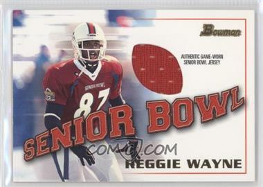 2001 Bowman Rookie Jerseys #BJ-RW - Reggie Wayne