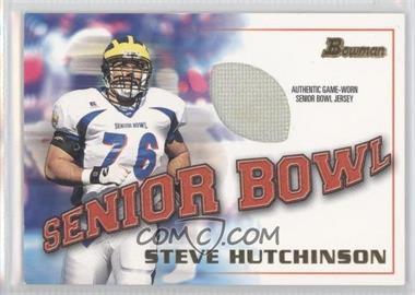 2001 Bowman Rookie Jerseys #BJ-SH - Steve Hutchinson