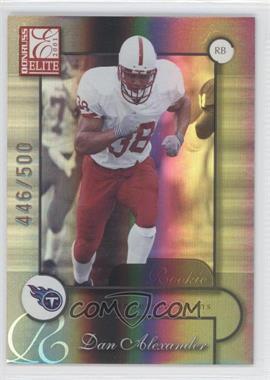 2001 Donruss Elite - [Base] #123 - Dan Alexander /500