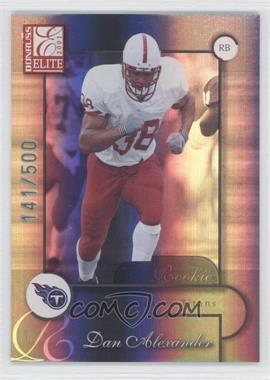 2001 Donruss Elite [???] #123 - Dan Alexander /500