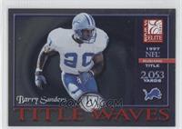 Barry Sanders (2,053 Yards) /1993