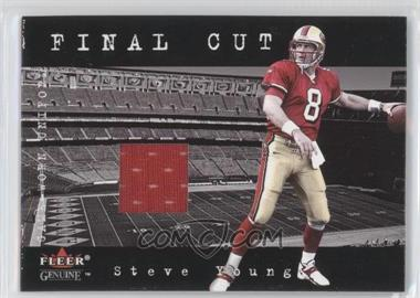 2001 Fleer Genuine - Final Cut Jerseys #STYO - Steve Young