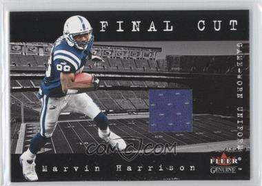 2001 Fleer Genuine Final Cut Jerseys #MAHA - Marvin Harrison