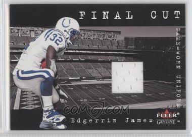 2001 Fleer Genuine Final Cut Jerseys #N/A - Edgerrin James
