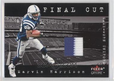 2001 Fleer Genuine Final Cut Jerseys #N/A - Marvin Harrison
