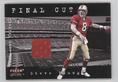 2001 Fleer Genuine Final Cut Jerseys #N/A - Steve Young