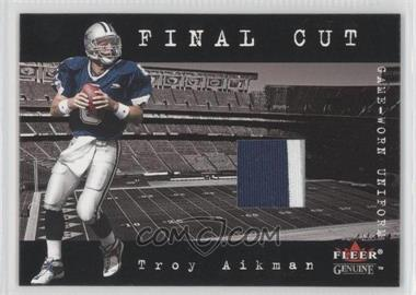 2001 Fleer Genuine Final Cut Jerseys #N/A - Troy Aikman