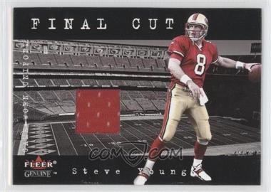 2001 Fleer Genuine Final Cut Jerseys #STYO - Steve Young