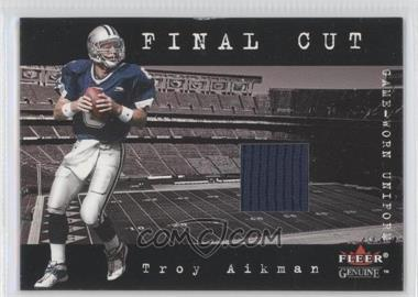 2001 Fleer Genuine Final Cut Jerseys #TRAI - Troy Aikman