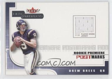 2001 Fleer Hot Prospects Rookie Premiere Postmarks Jerseys #DRBR - Drew Brees /1775