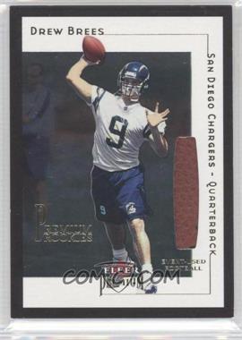 2001 Fleer Premium - [Base] - Rookie Game Ball [Memorabilia] #214 - Drew Brees /2001