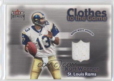 2001 Fleer Premium Clothes to the Game #KUWA - Kurt Warner