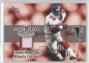 2001 Fleer Premium Premium Respect Jerseys #8 - Jamal Anderson /80