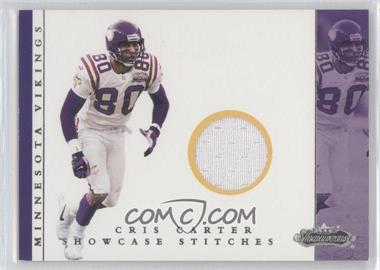 2001 Fleer Showcase Showcase Stitches #CRCA - Cris Carter