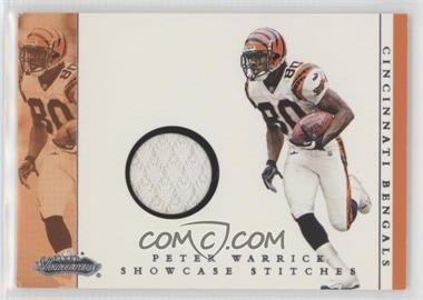 2001 Fleer Showcase Showcase Stitches #PEWA - Peter Warrick