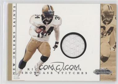 2001 Fleer Showcase Showcase Stitches #RIWI - Ricky Williams