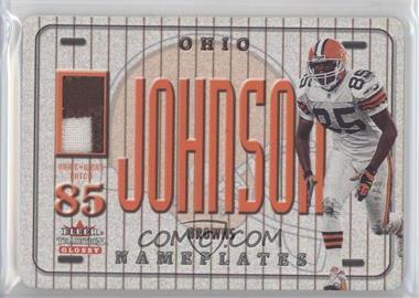 2001 Fleer Tradition Glossy - Nameplates #KEJO - Kevin Johnson