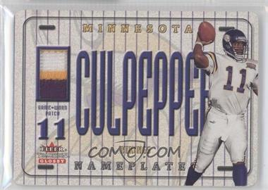 2001 Fleer Tradition Glossy Nameplates #DACU - Daunte Culpepper