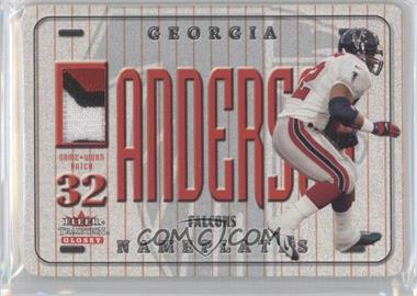 2001 Fleer Tradition Glossy Nameplates #JAAN - Jamal Anderson