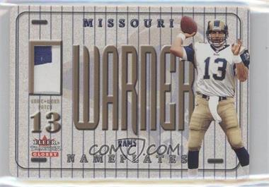 2001 Fleer Tradition Glossy Nameplates #KUWA - Kurt Warner