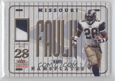2001 Fleer Tradition Glossy Nameplates #MAFA - Marshall Faulk