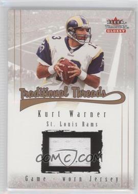 2001 Fleer Tradition Glossy Traditional Threads #KUWA - Kurt Warner