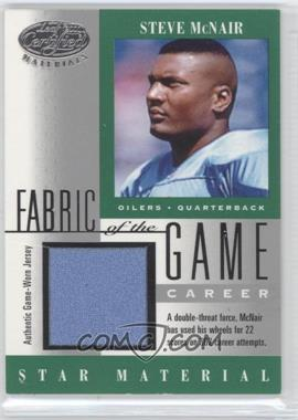 2001 Leaf Certified Materials - Fabric of the Game - Career #FG-104 - Steve McNair /362