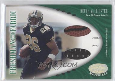2001 Leaf Certified Materials [???] #124 - Deuce McAllister /400
