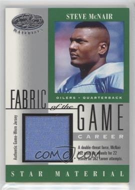 2001 Leaf Certified Materials Fabric of the Game Career #FG-104 - Steve McNair /362