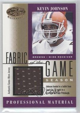 2001 Leaf Certified Materials Fabric of the Game Season #FG-130 - Kevin Johnson /79
